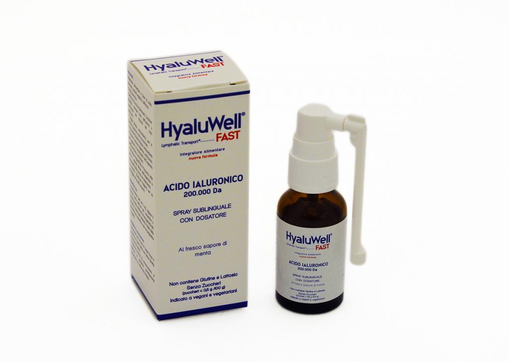 HyaluWell Fast Integratore Alimentare Acido Ialuronico